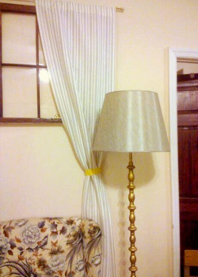 Gold Floor Lamp with Thomas O'Brian Grey Cone Shade from Target