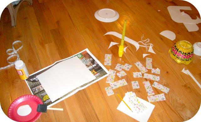 tissue paper modge podge decopauge