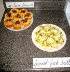 bacon egg biscuits and mini frittatas
