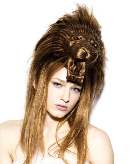 Lion hairpiece from Nagi Noda