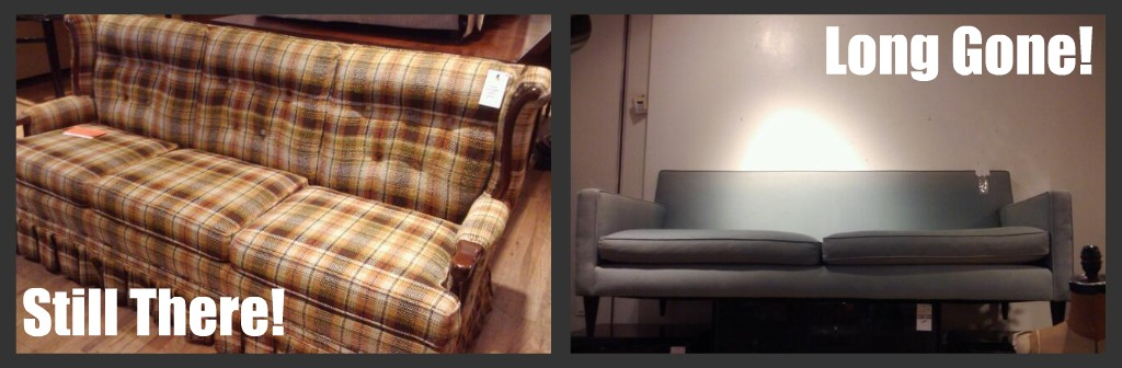 two couches from Housing Works on the UWS