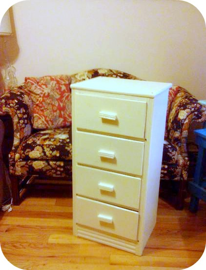 found in Astoria - off white 4 drawer dresser