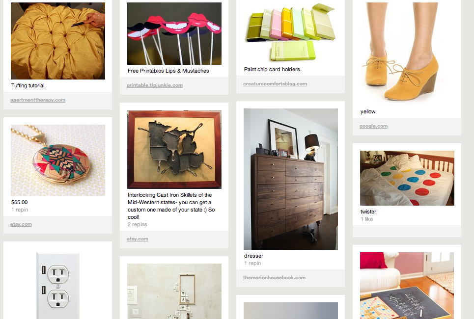screen shot of Sunday morning session on Pinterest