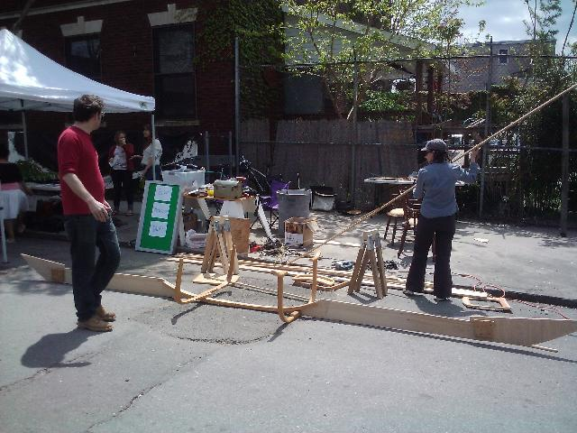 Boat building demonstration at Build It Green