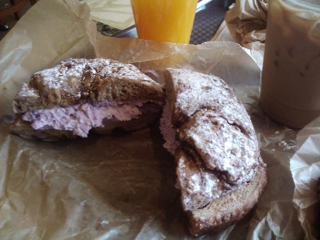 French toast bagel at Brooklyn bagel in Astoria